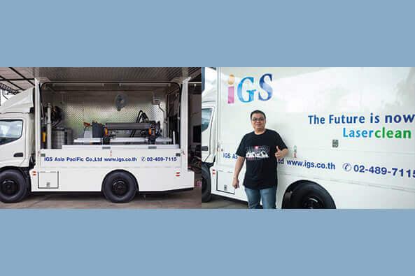 Mobiles Laserreinigungssystem in Südostasien